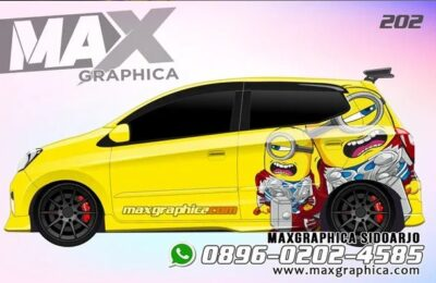 Cutting sticker mobil agya Kuning